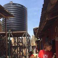 water tank at Lizpal School, provided by Porridge and Rice donors